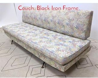 Lot 1019 Italian Modern Daybed Sofa Couch. Black Iron Frame.