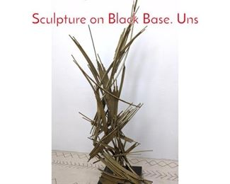 Lot 1022 Large Abstract Welded Tube Sculpture on Black Base. Uns