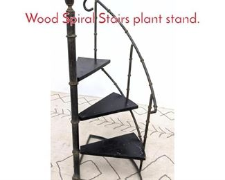 Lot 1023 Small Faux Bamboo and Wood Spiral Stairs plant stand.