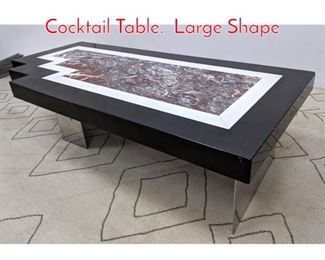 Lot 1026 Oversized Decorator Coffee Cocktail Table. Large Shape