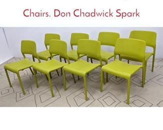 Lot 1030 set 8 Knoll Stacking Plastic Chairs. Don Chadwick Spark