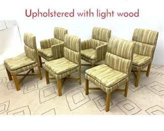 Lot 1031 Set 6 BAKER Dining Chairs. Upholstered with light wood
