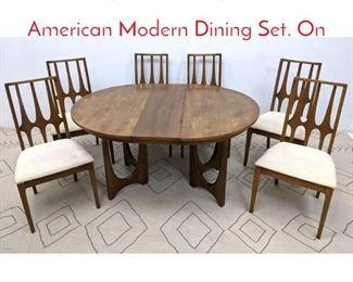 Lot 1034 7pc Brasilia by BROYHILL American Modern Dining Set. On