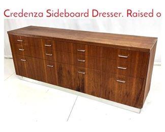 Lot 1040 Danish Modern Teak Credenza Sideboard Dresser. Raised o