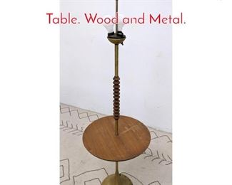 Lot 1053 Mid Century Modern Lamp Table. Wood and Metal.