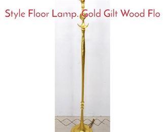Lot 1059 ALBERTO GIACOMETTI Style Floor Lamp. Gold Gilt Wood Flo