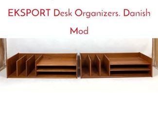 Lot 1064 2pcs NORDISK ANDELS EKSPORT Desk Organizers. Danish Mod