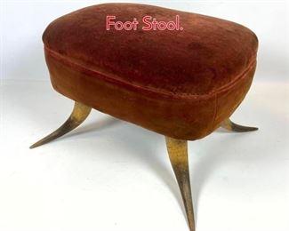 Lot 1067 Antique Steer Horn Foot Stool.
