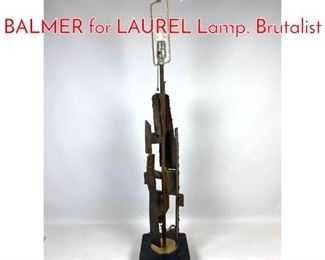 Lot 1073 In the Style of HARRY BALMER for LAUREL Lamp. Brutalist