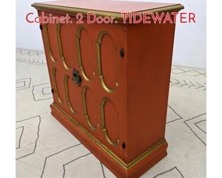 Lot 1074 Dorothy Draper Style Server Cabinet. 2 Door. TIDEWATER