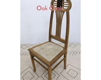 Lot 1075 Austrian Art Nouveau Carved Oak Chair.