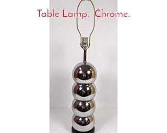 Lot 1079 Sonneman Stacked Ball Table Lamp. Chrome.
