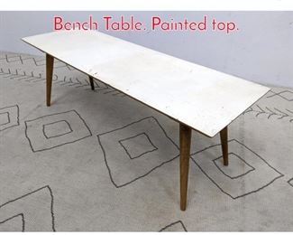 Lot 1081 Paul McCobb Planner Group Bench Table. Painted top.