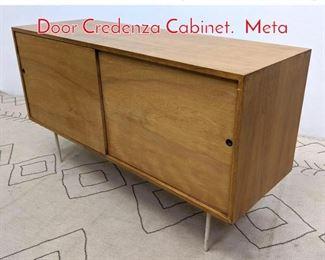 Lot 1084 Mid Century Modern Sliding Door Credenza Cabinet. Meta
