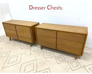 Lot 1090 Pair American Modern Dresser Chests.