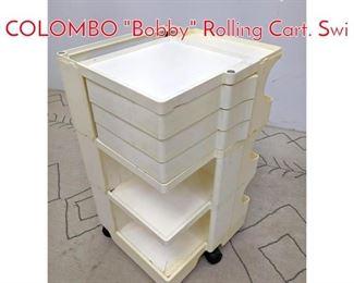 Lot 1091 White KARTELL by JOE COLOMBO Bobby Rolling Cart. Swi