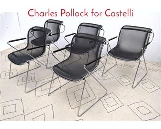 Lot 1093 Set 5 Penelope chairs by Charles Pollock for Castelli