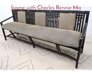 Lot 1095 Unique Sofa Bench. Angled frame with Charles Rennie Ma