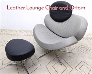 Lot 1098 TEAM by WELLIS Star Trek Leather Lounge Chair and Ottom