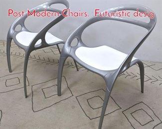 Lot 1099 BERNHARDT DESIGNS Post Modern Chairs. Futuristic desig