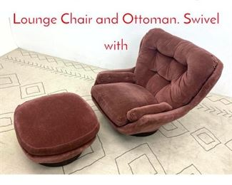 Lot 1102 JOE COLOMBO Style Lounge Chair and Ottoman. Swivel with