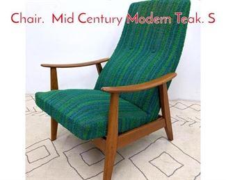 Lot 1103 Norway Modern Lounge Chair. Mid Century Modern Teak. S