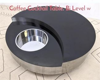 Lot 1104 WILLY RIZZO Revolving Coffee Cocktail Table. Bi Level w