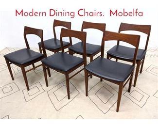 Lot 1105 Set 6 VEJLE STOLE Danish Modern Dining Chairs. Mobelfa