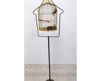 Lot 1108 Vintage Bird Cage on Stand.