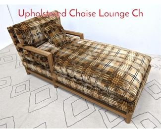 Lot 1109 Oversized Faux Ostrich and Upholstered Chaise Lounge Ch