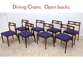 Lot 1110 Set 8 Danish Modern Teak Dining Chairs. Open backs.