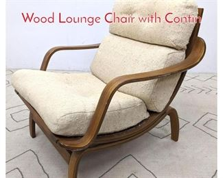 Lot 1107 Mid Century Modern Molded Wood Lounge Chair with Contin