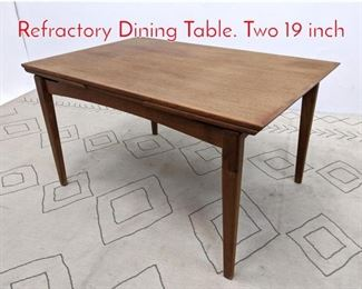 Lot 1111 Danish Modern Teak Refractory Dining Table. Two 19 inch