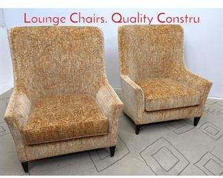 Lot 1117 Pair Oversized Tall Back Lounge Chairs. Quality Constru