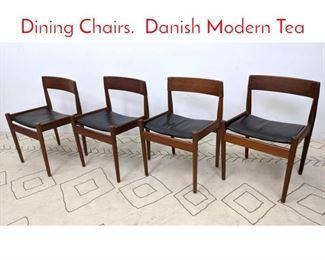 Lot 1121 Set 4 ILLUMS BOLIGHUS Dining Chairs. Danish Modern Tea