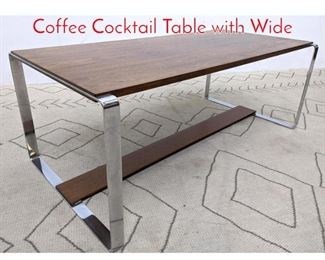Lot 1124 NORWAY Modern Rosewood Coffee Cocktail Table with Wide