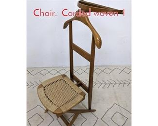 Lot 1128 Italian Style Collapsible Valet Chair. Corded woven l