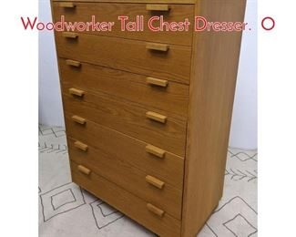 Lot 1131 CHARLES WEBB Designer Woodworker Tall Chest Dresser. O