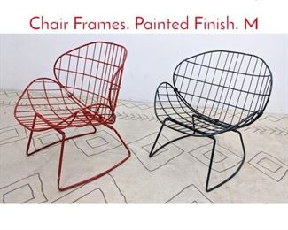 Lot 1134 Steel Wire Frame Lounge Chair Frames. Painted Finish. M