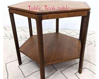 Lot 1137 DUX Danish Modern Side Table. Teak table.