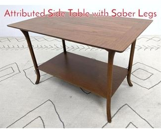 Lot 1139 ROBSJOHN GIBBINGS Attributed Side Table with Saber Legs