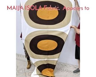 Lot 1147 22 yard Bolt MARIMEKKO MAIJA ISOLA Fabric. Appears to