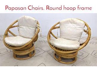 Lot 1148 Pr Bamboo Miami Modern Papasan Chairs. Round hoop frame