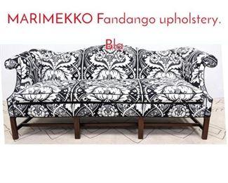 Lot 1146 Camel back sofa with MARIMEKKO Fandango upholstery. Bla