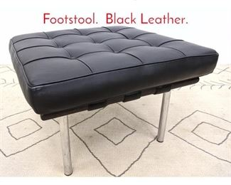 Lot 1150 Nelson Style Ottoman Footstool. Black Leather.