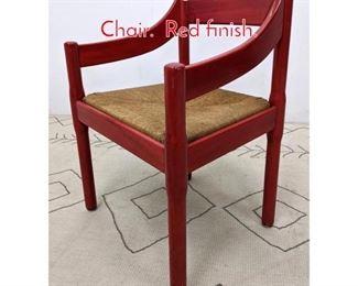 Lot 1152 Vico Magistretti Carimate Chair. Red finish.