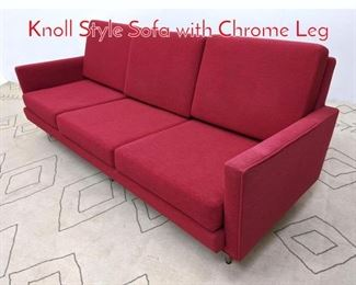 Lot 1153 MODERNICA Sofa Couch. Knoll Style Sofa with Chrome Leg