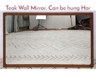 Lot 1154 TORRING Danish Modern Teak Wall Mirror. Can be hung Hor