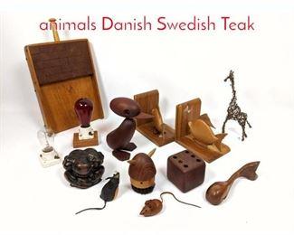 Lot 1448 Shelf Lot Lot of wooden animals Danish Swedish Teak