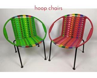 Lot 1452 Shelf Lot Pair of Miniature hoop chairs
